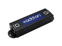AddOn Gigabit PoE Extender: 1-Port In / 1-Port Out 10/100/1000M PoE Copper Ethernet RJ45 Extender for Cat5e or Better.