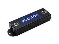 AddOn Gigabit PoE Extender: 1-Port In / 1-Port Out 10/100/1000M PoE Copper Ethernet RJ45 Extender for Cat5e or Better.