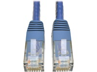 Tripp Lite Cat6 Gigabit Molded Patch Cable RJ45 M/M 550MHz 24 AWG Blue 1'