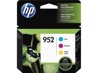 HP 952 Ink Cartridges - Cyan, Magenta, Yellow, 3 Cartridges (N9K27AN)