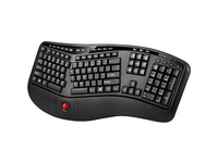 Adesso 2.4 GHz Wireless Ergonomic Trackball Keyboard