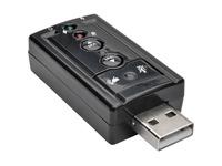 Tripp Lite USB External Sound Card Microphone Speaker Virtual 7.1 Channel