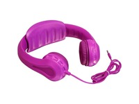 Aluratek Volume Limiting Wired Foam Headphones For Children (Pink)