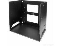 StarTech.com 8U Wallmount Server Rack with Built-in Shelf - Solid Steel - Adjustable Depth 12in to 18in