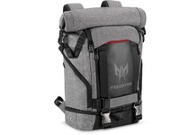 "Acer Predator Carrying Case (Backpack) for 15"" Notebook, Gaming - Gray, Black, Red Accent"