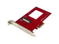 "StarTech.com U.2 to PCIe Adapter for 2.5"" U.2 NVMe SSD - SFF-8639 PCIe Adapter - x4 PCI Express 3.0 - NVMe PCIe Adapter - U.2 PCIe Card"