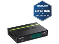 TRENDnet 8-Port GREENnet Gigabit PoE+ Switch, Supports PoE And PoE+ Devices, 61W PoE Budget, 16Gbps Switching Capacity, Data & Power Via Ethernet To PoE Access Points & IP Cameras, Black, TPE-TG82G