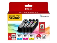 Canon Ink Cartridge/Paper Kit - Combo Pack - Black, Cyan, Magenta, Yellow