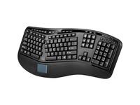 Adesso 2.4GHz Wireless Ergonomic Touchpad Keyboard
