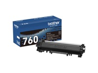 Brother Genuine TN-760 High Yield Toner Cartridge - Black