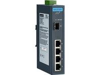 Advantech 4 GE + 1 SFP Ind. Unmanaged Switch W/T