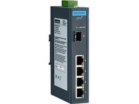 Advantech 4 GE + 1 SFP Ind. Unmanaged Switch W/T