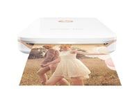 HP Sprocket Plus Zero Ink Printer - Color - Photo Print - Portable - White