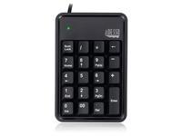 Adesso AKB-600HB - 19-Key Mechanical Keypad with 3-Port USB Hub