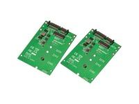 Aleratec M.2 NGFF SATA SSD to SATA Converter 2-Pack