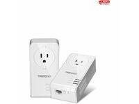 TRENDnet Powerline 1300 AV2 Adapter Kit with Built-in Outlet