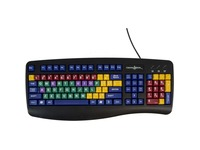 Ablenet Learning Board QWERTY keyboard vibrant color coded vowels, consonants, numbers and function keys
