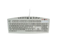 Ablenet Keys-U-See Large Print Wired Keyboard, Black Print on White Keys