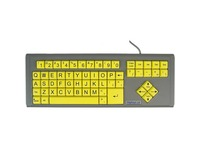 Ablenet BigKeys LX - QWERTY Wired Keyboard Black Print on 1-in/2.5-cm Large Yellow Keys