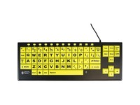 Ablenet VisionBoard 2 Large Key Keyboard Wired Black Print on 1-in/2.5-cm Yellow Keys