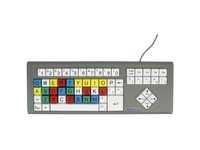 Ablenet BigKeys LX - QWERTY Wired Keyboard Multicolored 1-in/2.5-cm Large Keys