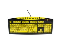 Ablenet Keys-U-See Large Print Wired Keyboard, Black Print on Yellow KeysS
