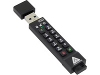 Apricon Aegis Secure Key 3NX: Software-Free 256-Bit AES XTS Encrypted USB 3.1 Flash Key with FIPS 140-2 level 3 validation, Onboard Keypad, and up to 25% Cooler Operating Temperatures.