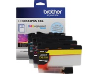 Brother Genuine LC30333PKS 3-Pack Super High-yield Color INKvestment Tank Ink Cartridges