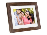 Aluratek 8 inch Distressed Wood Digital Photo Frame with Auto Slideshow Feature