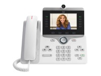 Cisco 8865 IP Phone - Remanufactured - Corded - Corded/Cordless - Bluetooth, Wi-Fi - Desktop, Wall Mountable - White