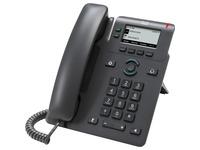 Cisco 6821 IP Phone - Corded - Corded - Wall Mountable, Desktop - Charcoal