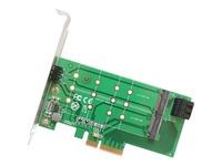 IO Crest 2 Port M.2 B key and 1 Port M.2 M Key PCI-e x4 Adapter Card - SI-PEX40124