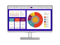 "HP E243p 23.8"" Full HD LED LCD Monitor with HP SureView built-in Privacy Screen - 16:9 - Black, Silver"