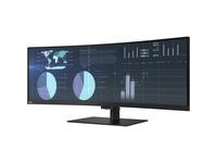 "Lenovo ThinkVision P44w-10 43.4"" WQUXGA WLED LCD Monitor - 32:10 - Raven Black"