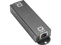 Black Box 10/100/1000BASE-T PoE+ Ethernet Repeater - 802.3at, 1-Port