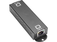 Black Box 10/100/1000BASE-T PoE+ Ethernet Repeater - 802.3at, 1-Port