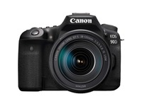 Canon EOS 90D 33 Megapixel Digital SLR Camera with Lens - 18 mm - 135 mm - Black