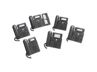 Cisco 6871 IP Phone - Corded - Corded/Cordless - Wi-Fi - Wall Mountable - Charcoal