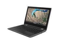 "Lenovo 300e Chromebook 2nd Gen 81MB001DUS 11.6"" Touchscreen 2 in 1 Chromebook - HD - 1366 x 768 - Intel Celeron N4020 Dual-core (2 Core) 1.10 GHz - 4 GB RAM - 32 GB Flash Memory - Black"