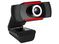 Adesso CyberTrack H3 Webcam - 1.3 Megapixel - 30 fps - Black, Red - USB 2.0
