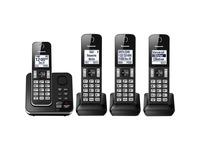 Panasonic KX-TGD394 DECT 6.0 1.93 GHz Cordless Phone - Black