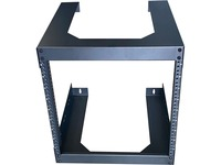 "4XEM 12U 18"" Deep Wall Mount for Switches and Rackmount Networking Equipment- Black"