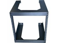 "4XEM 9U 18"" Deep Wall Mount for Switches and Rackmount Networking Equipment- Black"