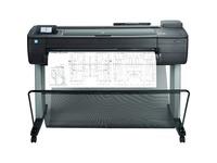 """HP Designjet T730 Inkjet Large Format Printer - 35.98"""" Print Width - Color"""