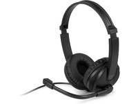 Aluratek Wired 3.5mm Stereo Headset with Noise Reducing Boom Mic and In-Line Controls