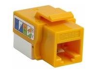 4XEM 10 pack Cat5e RJ45 Keystone Jack UTP 110-Type (Yellow)