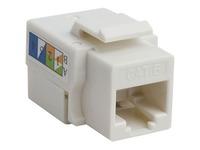 4XEM 10 pack Cat6 RJ45 Keystone Jack UTP 110-Type (White)