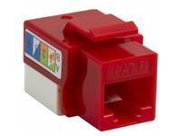 4XEM 10 pack Cat6 RJ45 Keystone Jack UTP 110-Type (Red)