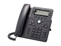 Cisco 6841 IP Phone - Corded - Corded - Wall Mountable, Desktop - Charcoal