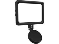 CTA Digital Magnetic LED Light Panel for Enhanced Virtual Communication (Black)